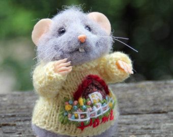 needle felted animal Needle felted mouse cute mouse mouse collectables
