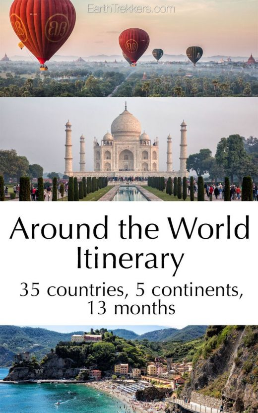 Our Around the World Itinerary