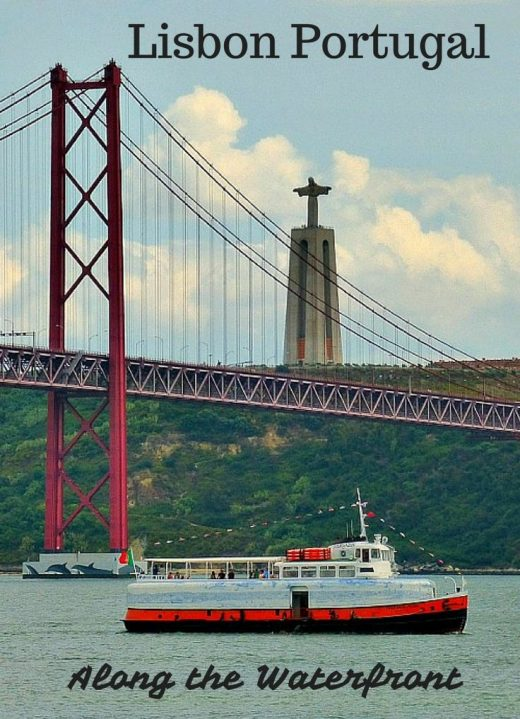 Things to do in Lisbon Portugal along the waterfront. Lisbon has a wonderful wal…