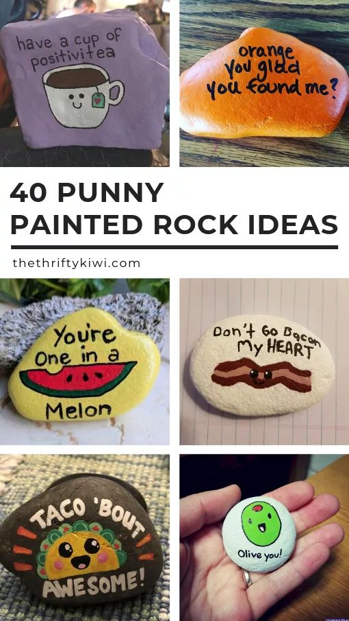 40 Punny Painted Rocks Just for Pun – Funny Ideas to Try