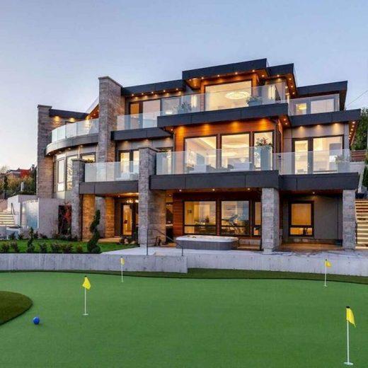 40 Stunning Mansions Luxury Exterior Design Ideas (35