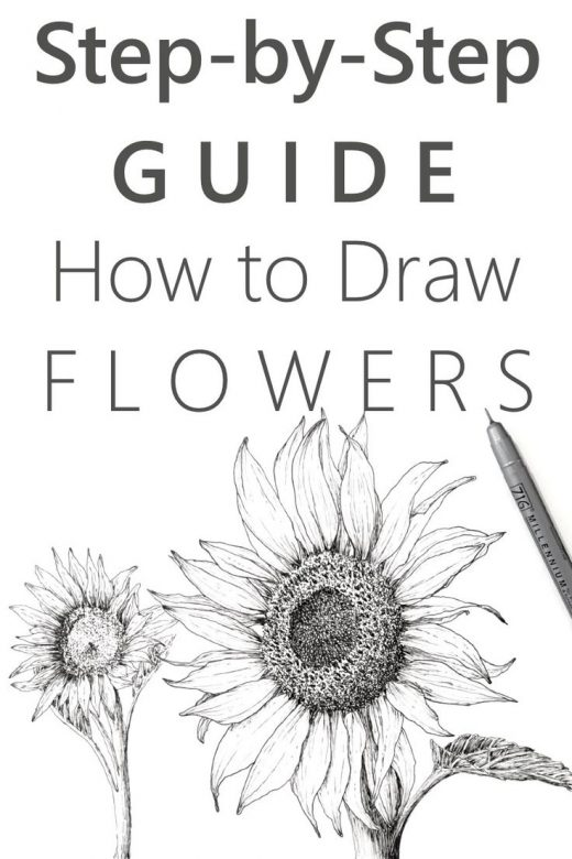 EASY Step-by-Step Guide for Drawing Flowers