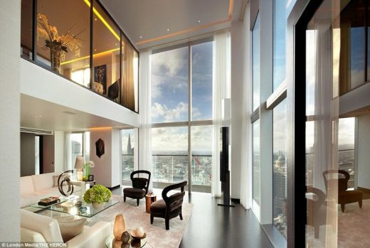 Inside the luxury penthouses on the 36th floor of a London skyscraper