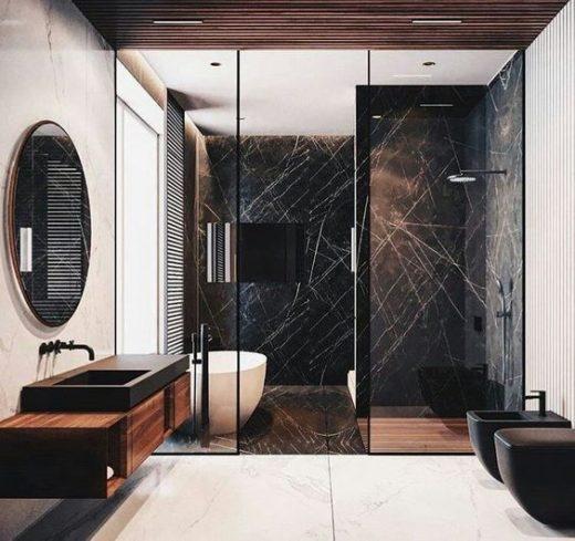 Justyna Tatys Created A Unique Luxury Bathroom For The ZŁOTA 44 Tower