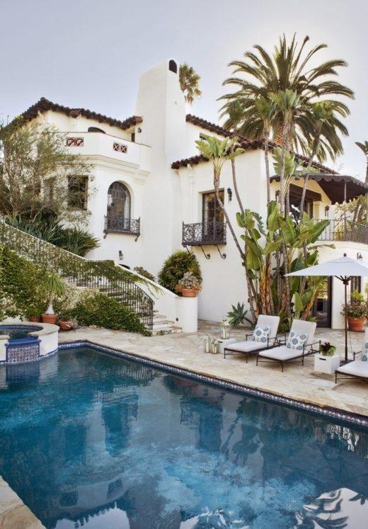 Mediterranean-Inspired Spanish Colonial Revival Luxury House in Los Angeles