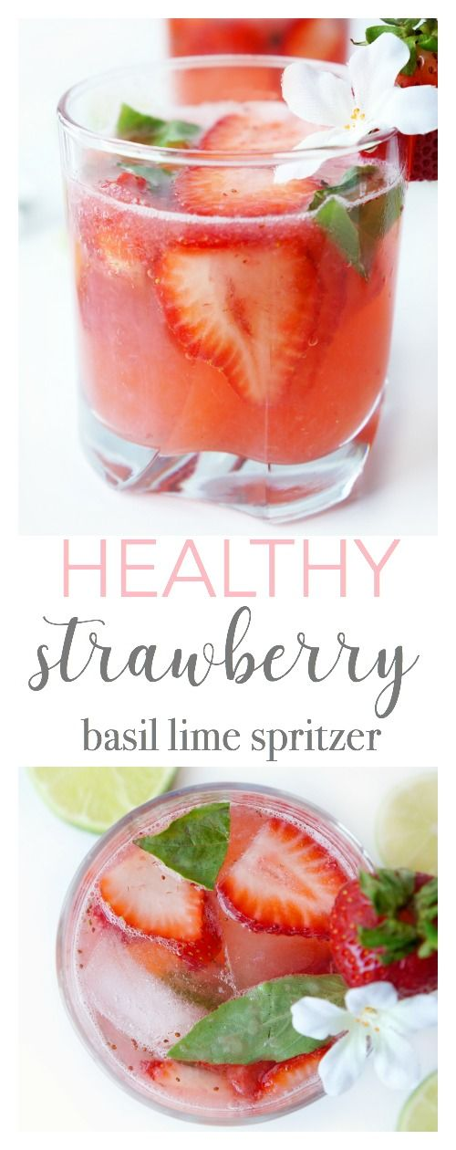Strawberry Basil Lime Spritzer