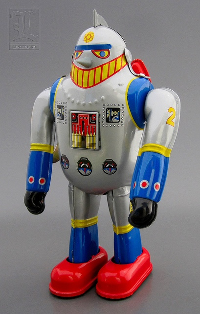 T-28 aka TETSUJIN 28 wind-up SUPER ROBOT tin toy