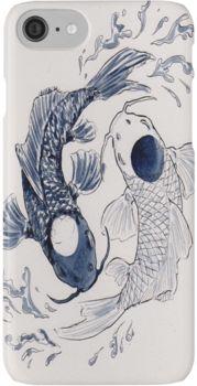 Ying Yang Koi Fish   iPhone Case & Cover
