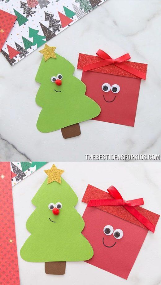 CHRISTMAS TREE & PRESENT CARD 🎄🎁