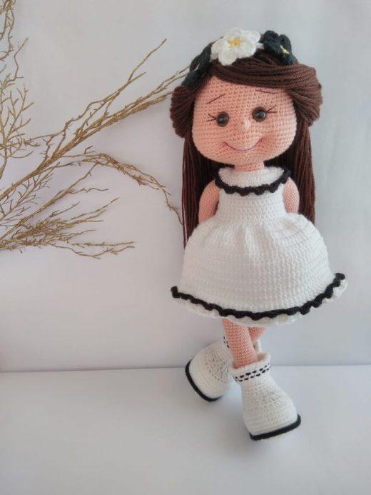 Crochet Doll, Amigurumi Doll, Interior Doll, Collection Doll, Gift for Girl, Women Art Doll, Birthday Gift, Toy Doll, Flower Girl, Mia-9