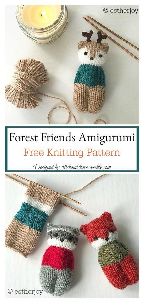Forest Friends Amigurumi Knitting Pattern