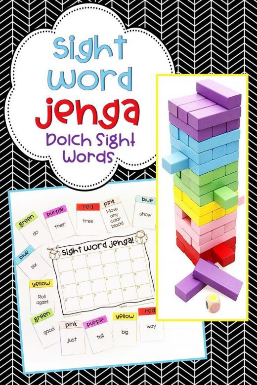 Jenga Game Cards: Engaging Math & Literacy Center Activities for the Classroom