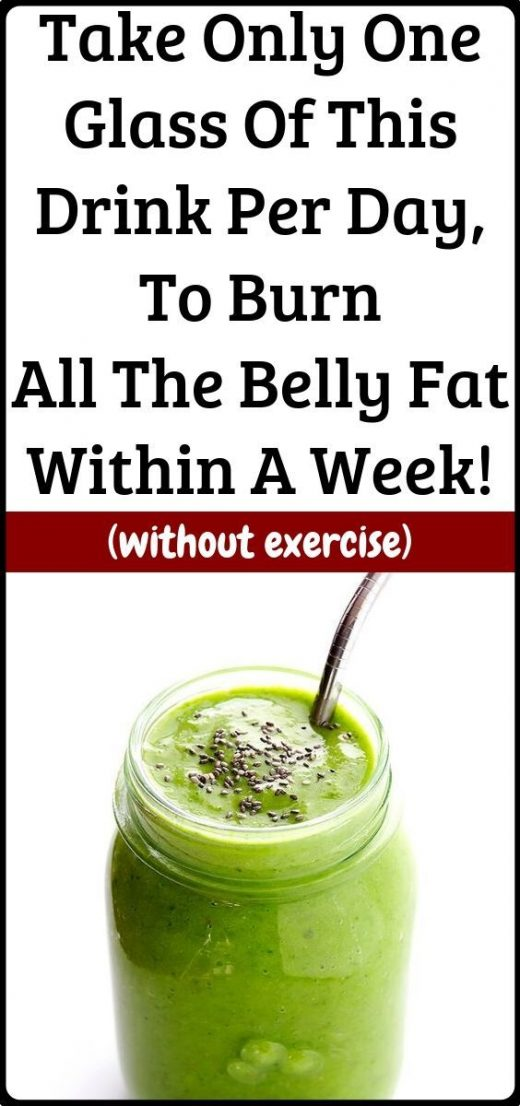 Just a glass of this amazing drink will burn that belly fat within a week!