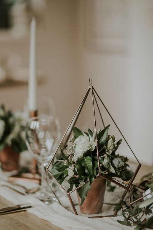 Modern Botanical Copper & Geometric Wedding Ideas