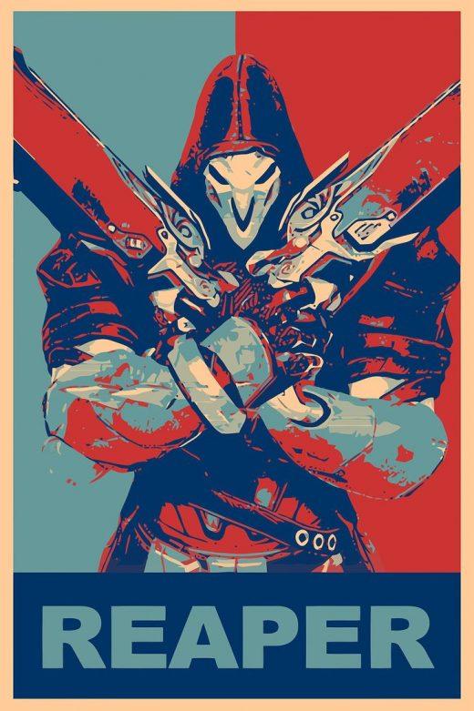 Reaper wallpaper, propaganda, Reaper (Overwatch), Overwatch, Gamer HD wallpaper …