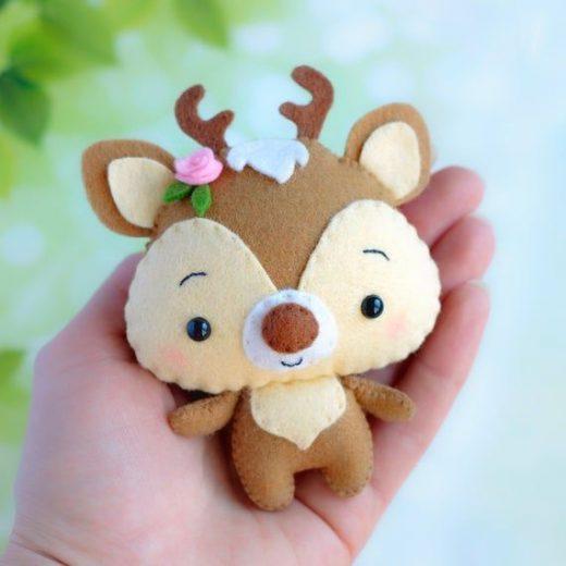 Set of 10 cute woodland animal toy sewing PDF patterns, Felt Squirrel, Raccoon, Fox, Skunk, Bear, Hedgehog, Deer, Rabbit, Beaver and Mouse