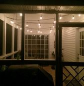 The Easiest Way to Hang String Lights on a Screened Porch