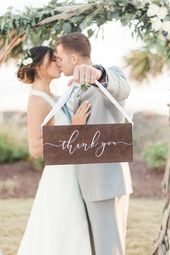 Wooden Thank You Sign | Wedding Sign | SS-108