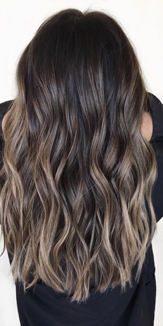 brown hair with ash toned highlights tomybsalon.com/ – Crystal Medina