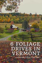 6 foliage drives through back roads of Vermont