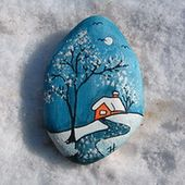 Best DIY Christmas Painting Rocks Design (21