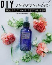 DIY Mermaid Sea Salt Hair Texturizer Spray – Citizens of Beauty
