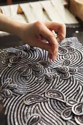 Fashion Atelier – haute couture embroidery; embellishment detail; fashion studio…