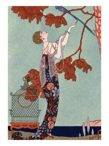 The Flighty Bird, France, Early 20th Century Giclee Print by Georges Barbier