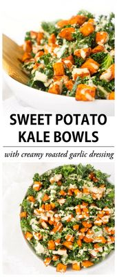 These Sweet Potato Kale Bowls are a tasty and versatile way to add some extra ve…