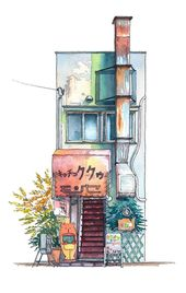 Tokyo Storefronts: Illustrations by Mateusz Urbanowicz