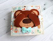 Tutorial busy quiet book for travel toddler activity, felt bear on a quiet book, first birthday or personalized baby gifts (6-12 pages)