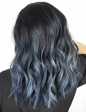 20 Beautiful Styling Ideas For Blue Ombre Hair