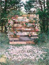 25 Rustic Outdoor Wedding Ceremony Decorations Ideas