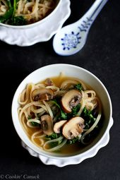 30-Minute Rice Noodle Soup with Mushrooms & Kale   Cookin' Canuck