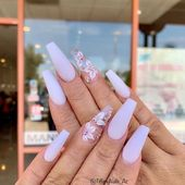 40 Unique And Special Coffin Long Nail Art For You