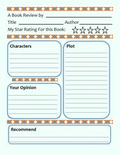 Book review template for children's books