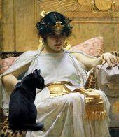Cleopatra and Her Cat, Beketaten Print or Digital Photograph File