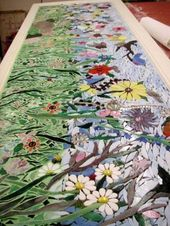 Create a garden in mosaic Beautiful garden art pieces are traditionally made of …