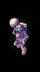 Illustration, Graphic design, Purple, Font, Astronaut, Space