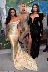Khloe Kardashian and Kylie Jenner flaunt their eye-popping cleavage