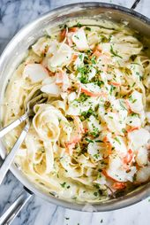 Lobster Alfredo (GF) | Fed & Fit