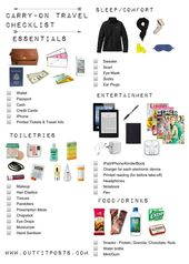 Packing Carry On Essentials – THE BLOG DORY FITZ