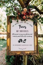 Rustic Burgundy Floral Unplugged Wedding Sign   Zazzle.com