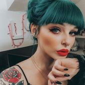 These Teal Hair Looks Will Convince You to Strut Like a Peacock — POPSUGAR