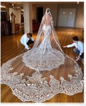1 Yard Haute couture lace fabric ,luxury thick embroidery lace fabric for wedding gown prom dress bridal accessories