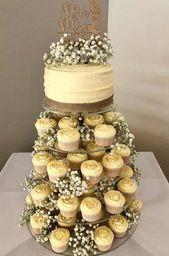 20 Cupcake Tower-Hochzeitsideen für Ihren großen Tag wedding cupcakes – Hochzeit Ideen