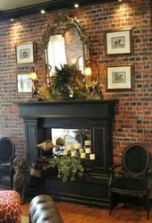 38 Best Design for Fireplace with Red Brick
