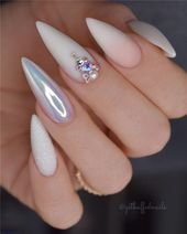 39 Amazing Acrylic Stiletto Nails Art Ideas That Are Trending