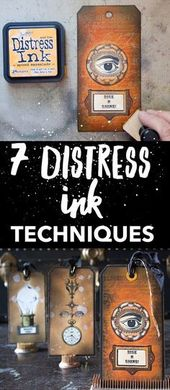 7 Distress Ink Techniques