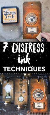 7 Distress Ink Techniques